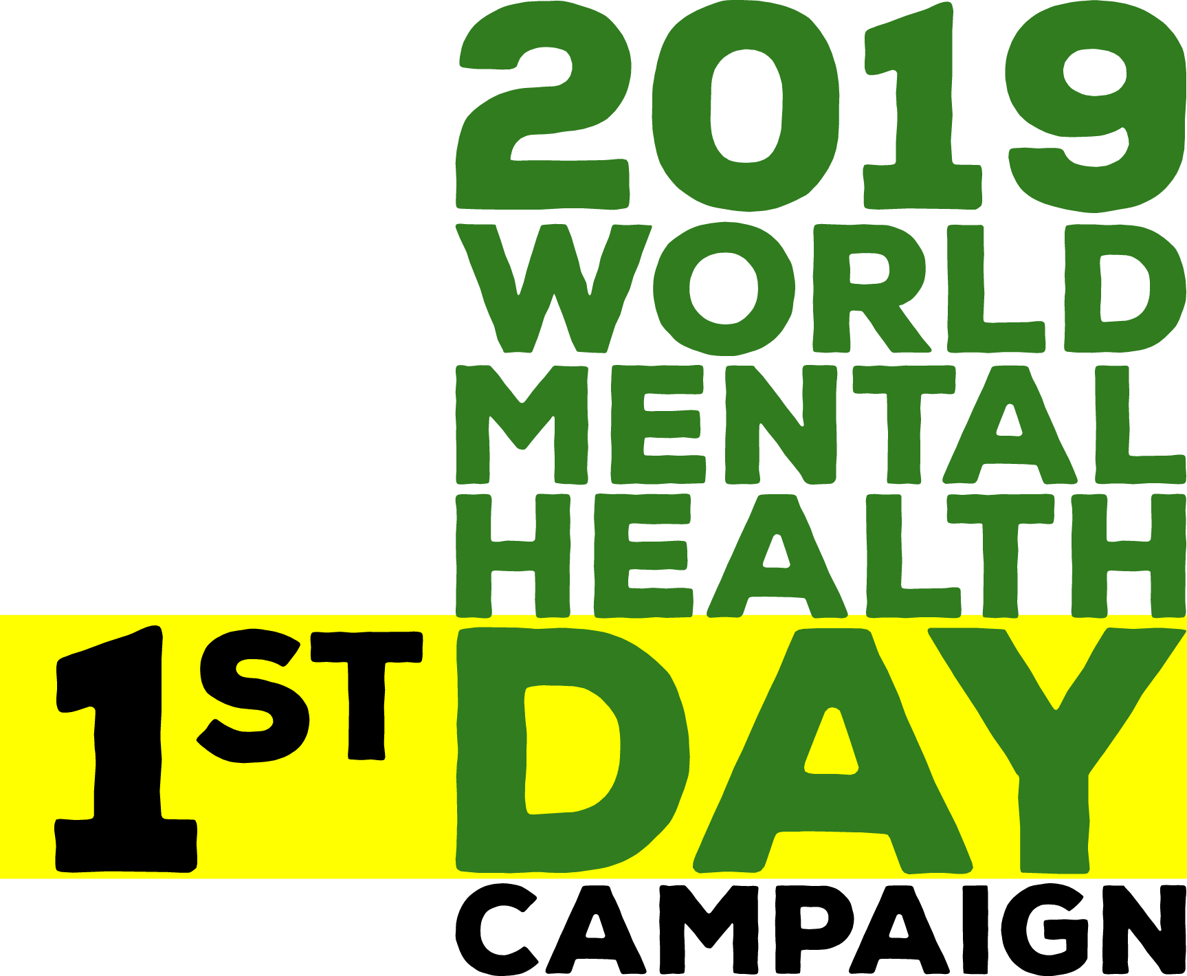2019 world mental health day campaign logo 1st day
