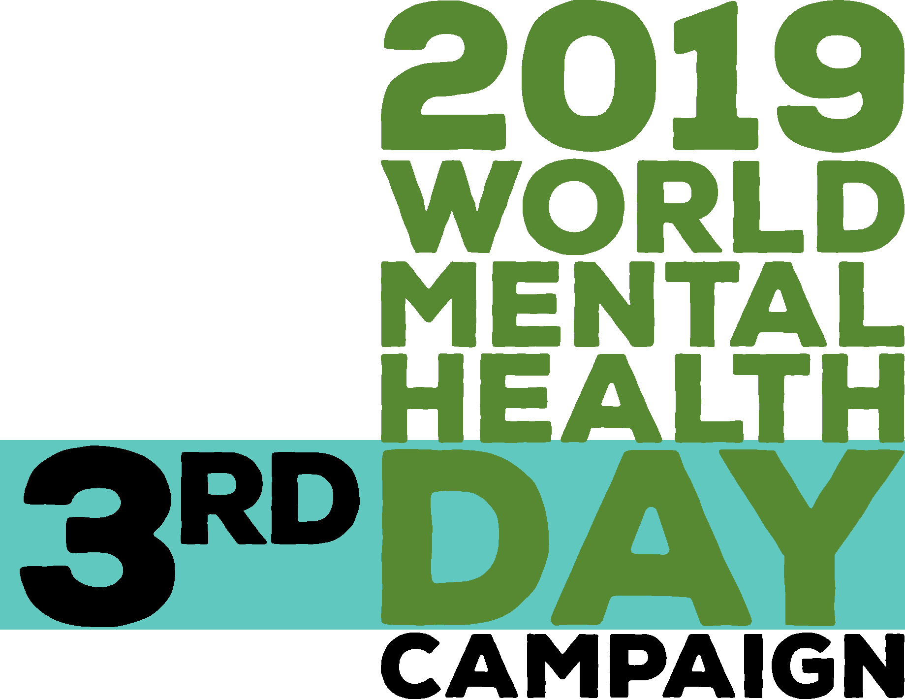 2019 world mental health day campaign logo 3rd day